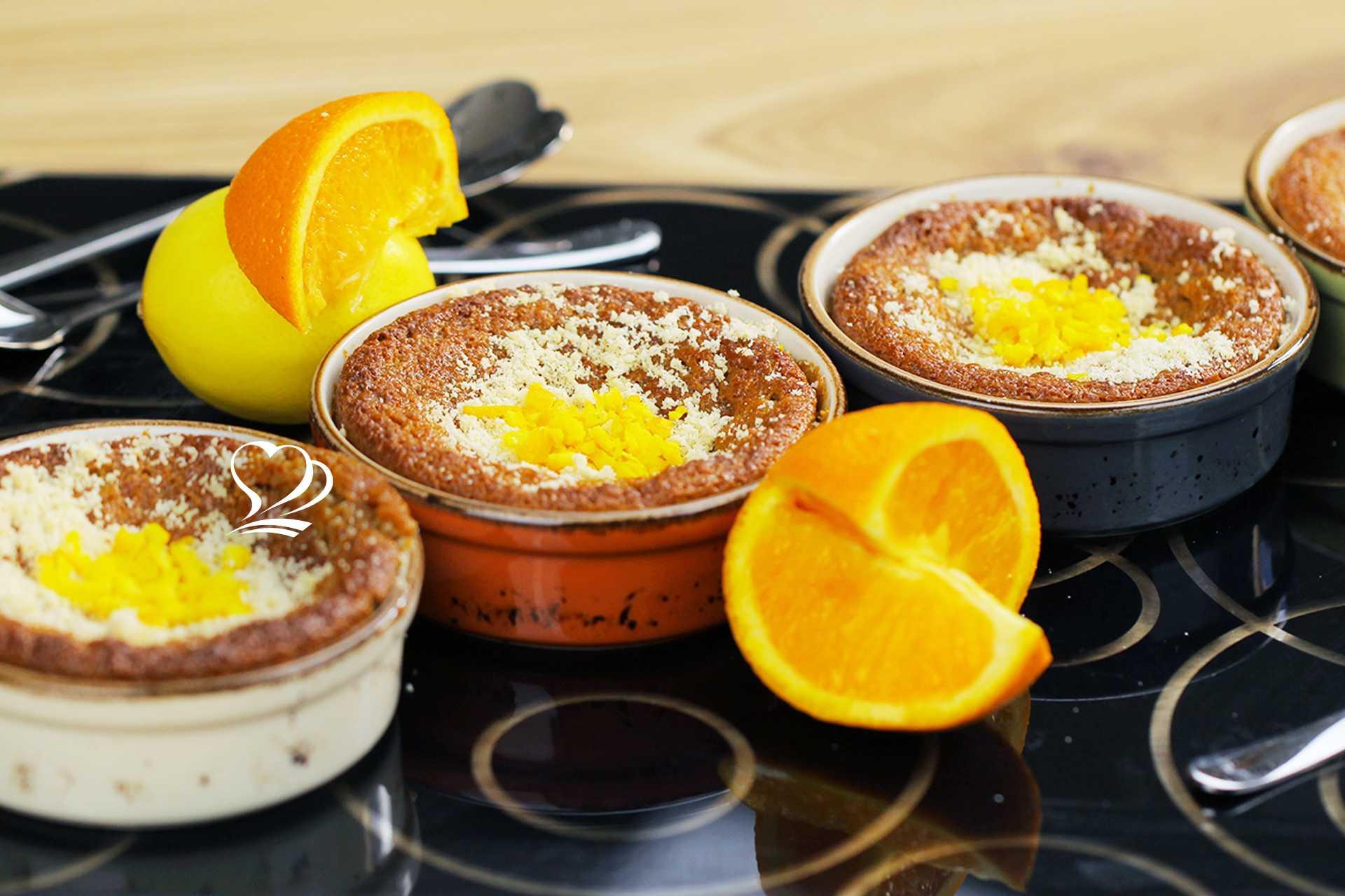 Portakallı Limonlu Fırında Sıcak Helva Tarifi